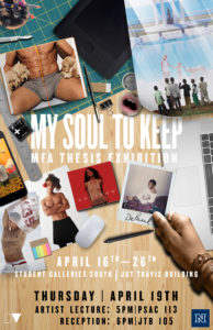 Artist Reception: DePaul Vera: My Soul To Keep @ Student Galleries South | Reno | Nevada | United States