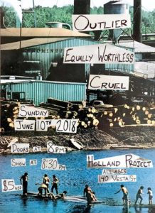 Holland Project presents: Outlier // Cruel // Equally Worthless @ Holland Project | Reno | Nevada | United States