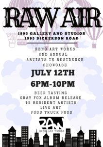 Artist Reception: RAW Resident Artist Showcase @ Reno Art Works | Reno | Nevada | United States