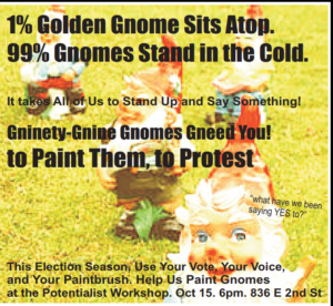 The Potentialist Workshop present: Gnome Painting Protest @ The Potentialist Workshop | Reno | Nevada | United States