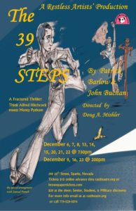 Restless Artists' Theatre presents: 39 Steps @ Restless Artists' Theatre | Sparks | Nevada | United States