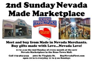 2nd Sunday Nevada Made Marketplace in the Reno Town Mall @ Reno Old Town Mall