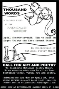 Call to Artists: 1000 Words at the Potentialist Workshop @ The Potentialist Workshop