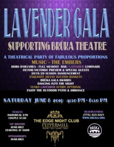 Bruka Theatre Lavender Gala @ The Edge at the Peppermill