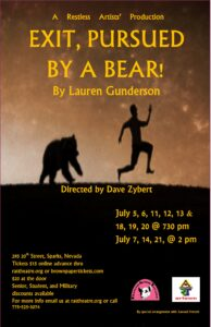 Restless Artists Theatre present: Exit, Pursued By A Bear! @ Restless Artists Theatre