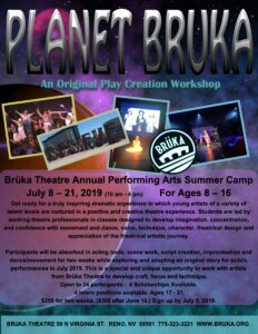 Planet Bruka: An Original Play Creation Workshop @ Bruka Theatre